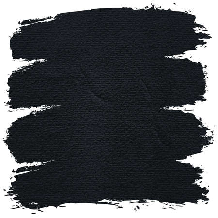 Paint brushstroke on watercolor texture with damages, folds and wrinkles. Blank grunge black background with space for text. This vector illustration clip-art design element save in 8 eps