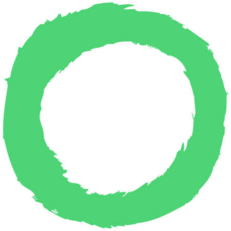 Green brush stroke in the form of a circle Vector illustration
