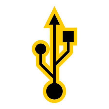 USB port symbol Universal Serial Bus sign Vector illustration Illustration