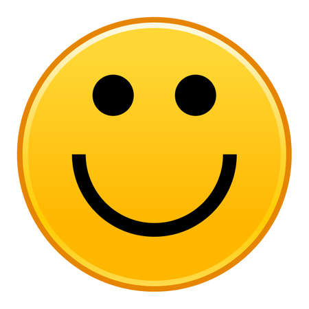 Yellow smiling face cheerful smiley happy emoticon Vector illustration