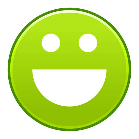 Green smiling face Vector illustration Illusztráció