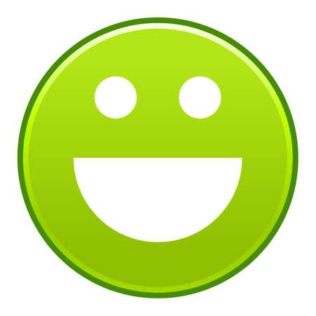Green smiling face Vector illustration Illustration