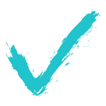 addition: Check mark symbol made of ink strokes Vector illustration