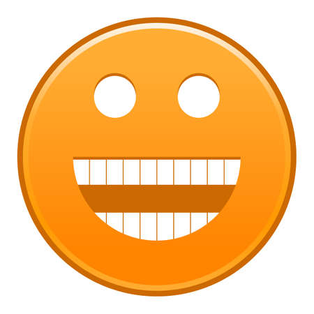 Orange smiling face Vector illustration