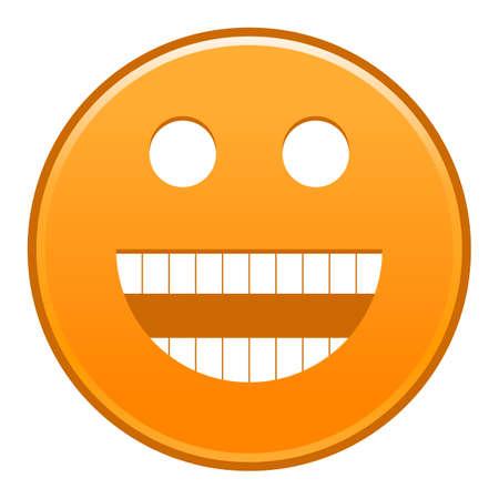 Orange smiling face Vector illustration