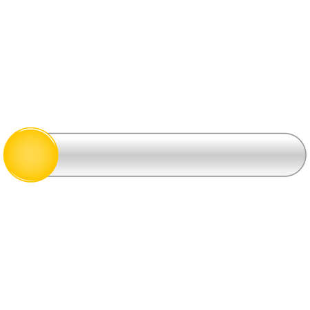 Yellow blank circle glossy button rounded rectangle Vector illustration