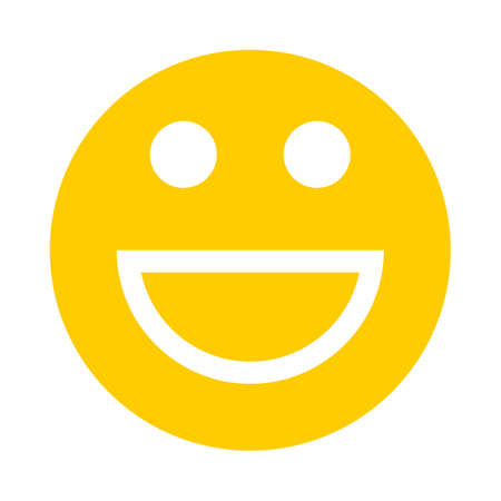 Smiley happy smiling face emoticon icon in flat style Vector illustration