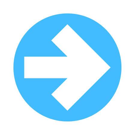 Arrow sign direction icon in circular shape Vector illustration