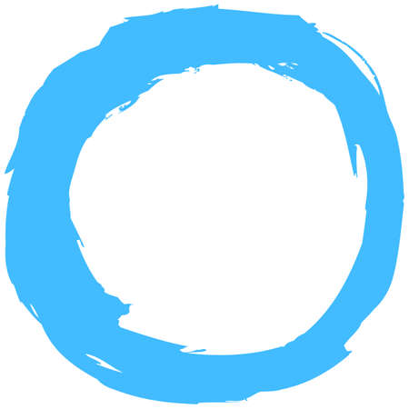 Blue brush stroke in the form of a circle Vector illustration