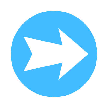 Arrow sign direction icon inside a circle button Vector illustration