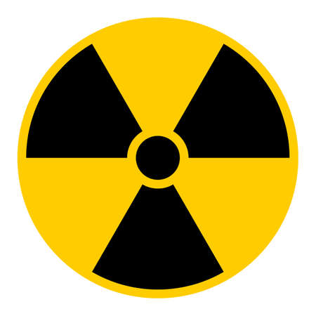 uranium: Ionizing radiation symbol Vector illustration