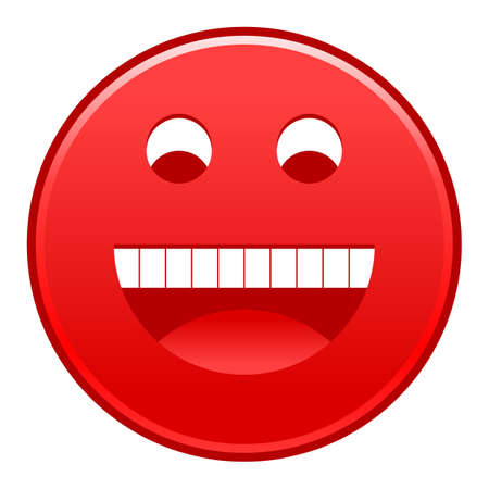 Red smiling face Vector illustration