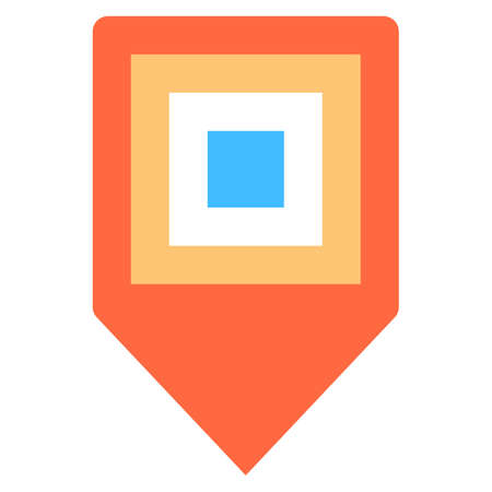 Flat map pin sign, internet cartography button Vector illustration Illustration
