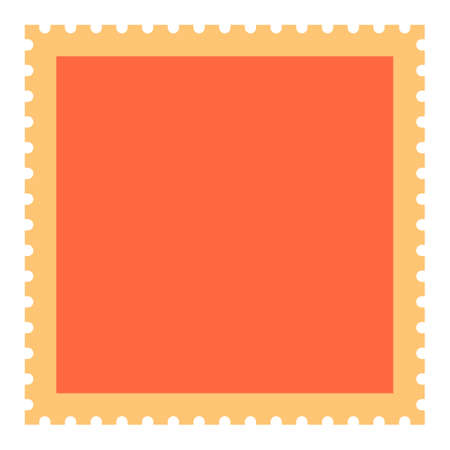 Recolorable blank square postage stamp Vector illustration Иллюстрация