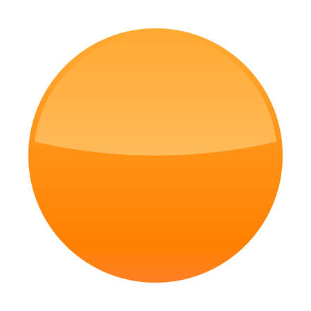 Orange glossy button blank round icon isolated  background Vector illustration