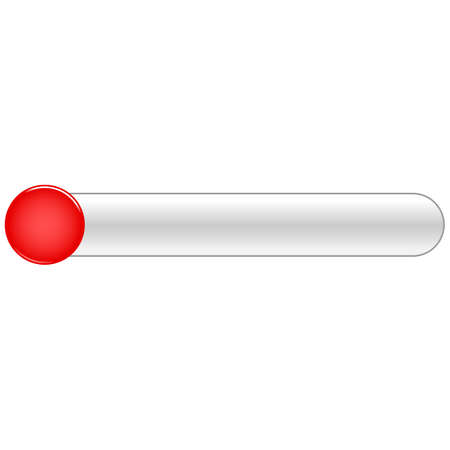 Red blank circle glossy button rounded rectangle Vector illustration