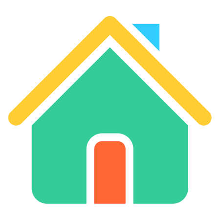 Flat home icon house  Vector illustration