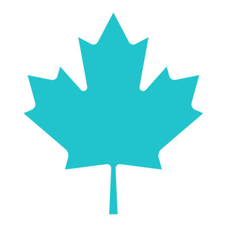Use it in all your designs. Canadian maple leaf symbol national flag of Canada. Quick and easy recolorable shape. Vector illustration a graphic element Illustration