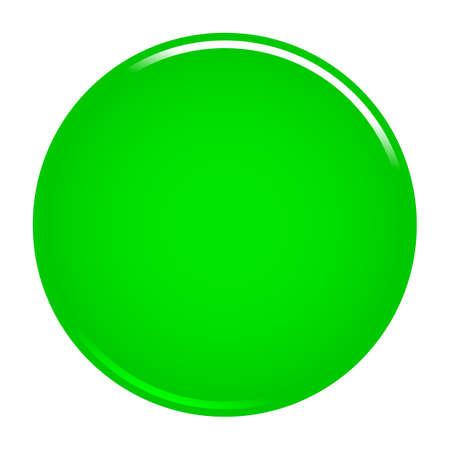 緑色の光沢のあるボタン空の web インターネットアイコン円空の形状。ベクトルイラスト web インターネット設計のためのグラフィック要素。  イラスト・ベクター素材