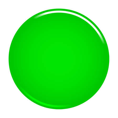 Green glossy button empty web internet icon circle empty shape. Vector illustration a graphic element for web internet design.