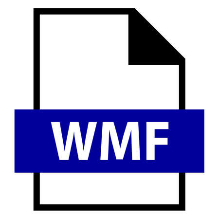 meta: Use it in all your designs. Filename extension icon WMF Windows MetaFile in flat style. Quick and easy recolorable shape. Vector illustration a graphic element. Illustration