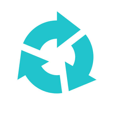 Arrow sign direction icon navigation button reload, refresh, rotation, loop, repetition, reset pictogram. Vector illustration a graphic element for design.