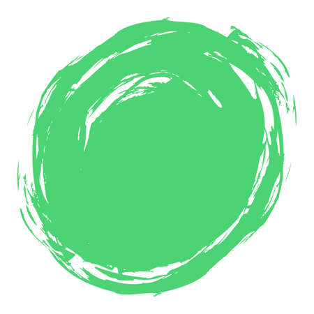 Use it in all your designs. Quick and easy recolorable shape. Brushstroke in the form of a circle. Ink sketch drawing created in handmade technique. Vector illustration a graphic element