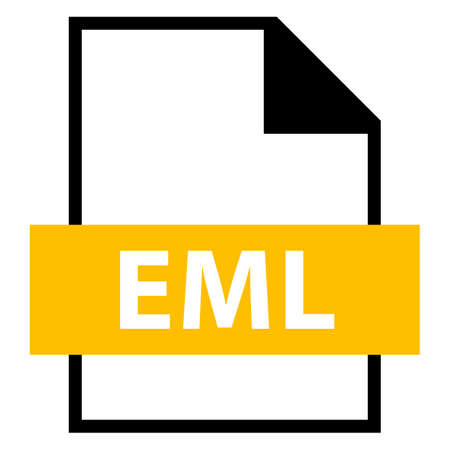 Use it in all your designs. Filename extension icon EML Electronic Mail Format in flat style. Quick and easy recolorable shape. Vector illustration a graphic element. Illustration