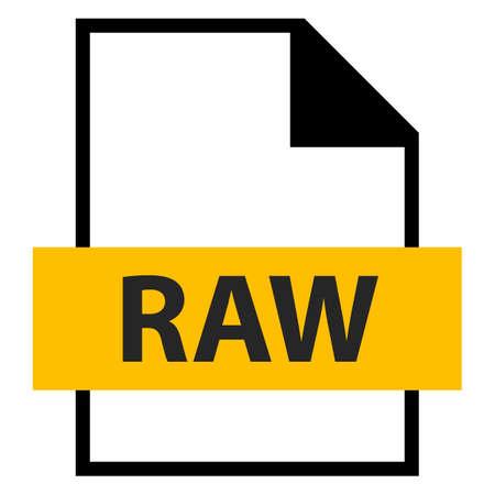 모든 디자인에서 사용하십시오. 파일 이름 확장 아이콘 원시 스타일의 RAW 카메라 원시 이미지 파일. 빠르고 쉬운 recolorable 모양. 벡터 일러스트 레이 션 일러스트