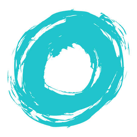 Use it in all your designs. Quick and easy recolorable shape. Brush stroke in the form of a circle. Drawing created in ink sketch handmade technique. Vector illustration a graphic element