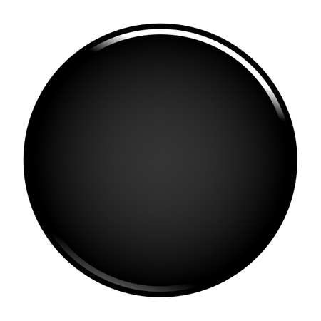 Black glossy button empty web internet icon circle empty shape. Vector illustration a graphic element for web internet design. Illustration