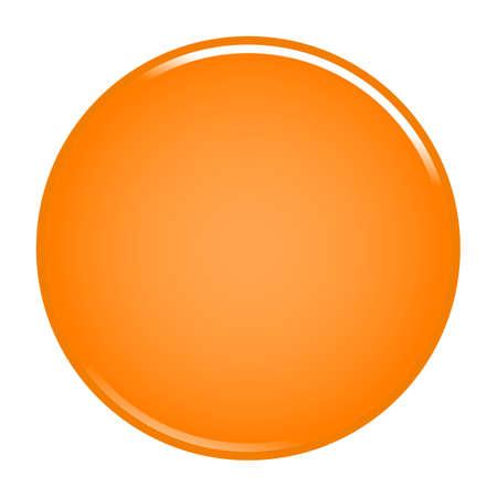 Orange glossy button empty web internet icon circle empty shape. Vector illustration a graphic element for web internet design Illustration