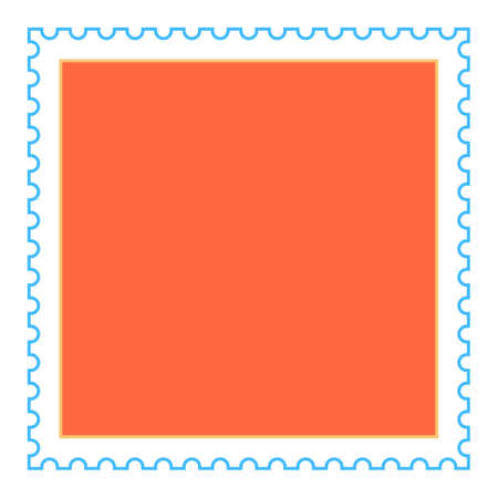 Use it in all your designs. Recolorable empty square postage stamp. Quick and easy recolorable shape. Vector illustration a graphic element Иллюстрация