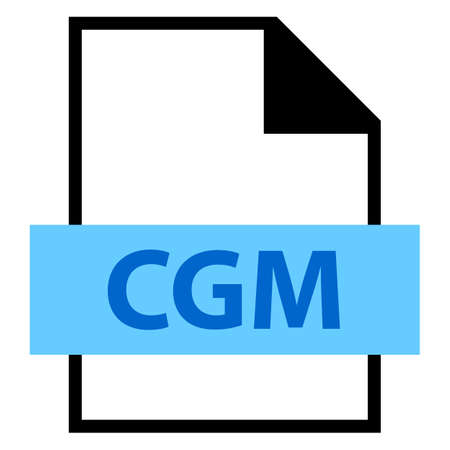 meta: Use it in all your designs. Filename extension icon CGM Computer Graphics Metafile in flat style. Quick and easy recolorable shape. Vector illustration a graphic element.
