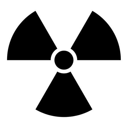 uranium: Use it in all your designs. Ionizing ionising radiation symbol attention danger warning sign. Quick and easy recolorable shape. Vector illustration a graphic element