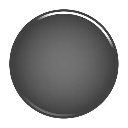 Gray glossy button empty web internet icon circle empty shape. Vector illustration a graphic element for web internet design.