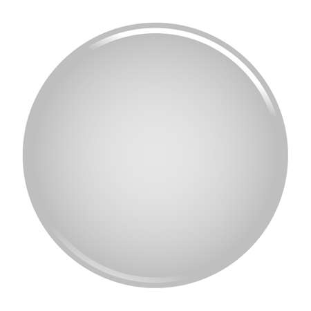 Gray glossy button empty web internet icon circle empty shape. Vector illustration a graphic element for web internet design