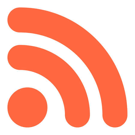 すべてのデザインに使用します。フラットの Wi-Fi 信号または RSS アイコン本当に単純なシンジケーション記号ボタンを購読します。迅速かつ簡単な  イラスト・ベクター素材