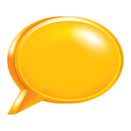 Use it in all your designs. Orange blank speech bubble web internet icon.