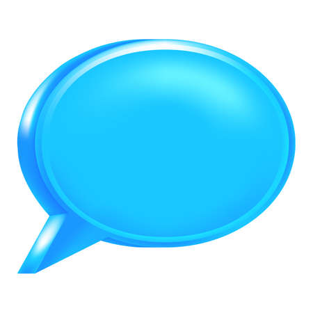 Use it in all your designs. Blue empty speech bubble web internet icon.  Illustration