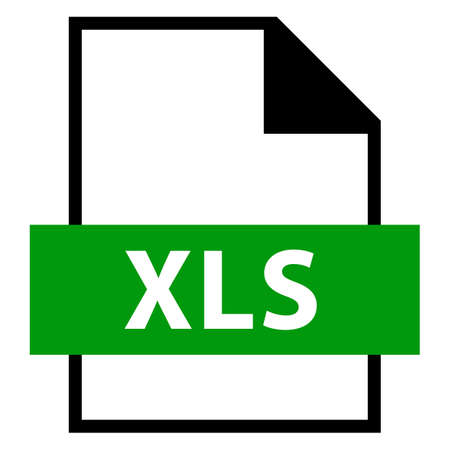 Filename extension icon XLS Microsoft Excel Binary File Format in flat style Vector illustration