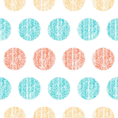Seamless pattern with colorful polka dots Vector illustration