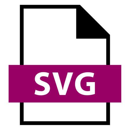 모든 디자인에서 사용하십시오. 파일 이름 확장 아이콘 SVG 확장 가능한 벡터 그래픽 (플랫 스타일). 빠르고 쉬운 recolorable 모양. 벡터 일러스트 레이 션
