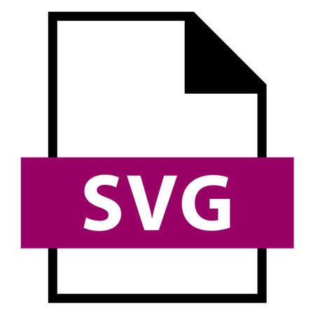 Use it in all your designs. Filename extension icon SVG Scalable Vector Graphics in flat style. Quick and easy recolorable shape. Vector illustration a graphic element.
