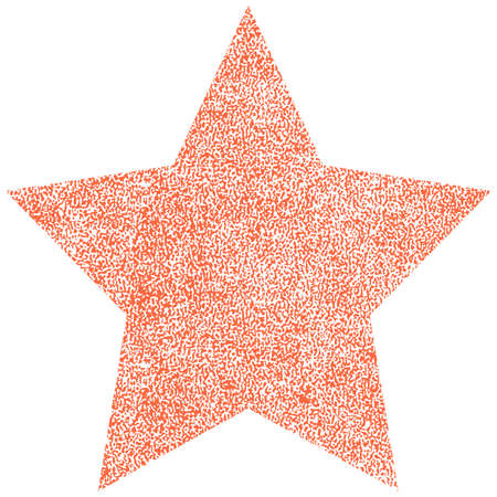 Use it in all your designs. Red star with effect paint texture. Quick and easy recolorable shape. Vector illustration a graphic element.