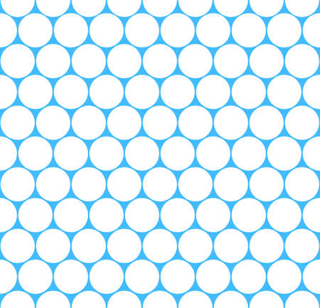 Use it in all your designs. Seamless pattern blue grid with circular shapes. Quick and easy recolorable shape. Vector illustration a graphic element