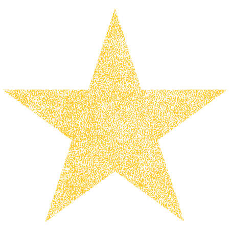 Use it in all your designs. Yellow star with effect paint texture. Quick and easy recolorable shape. Vector illustration a graphic element.