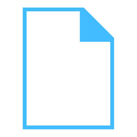 Use it in all your designs. Blank file types icons in simple flat style for user interface. Quick and easy recolorable shape. Vector illustration a graphic element. Ilustração