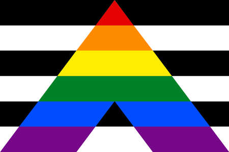 Use em todos os seus projetos. Bandeira de aliado em linha reta. Vetorial, ilustração, um, gráfico, elemento