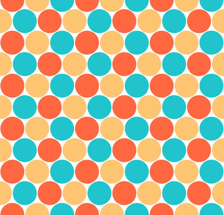 rotund: Use it in all your designs. Seamless pattern with circular shapes. Quick and easy recolorable shape. Vector illustration a graphic element